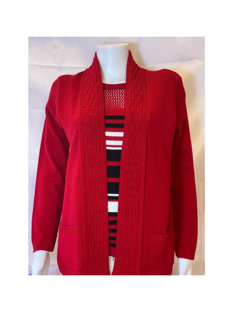MG 2IN1 Twinset Rood/Zwart/Wit