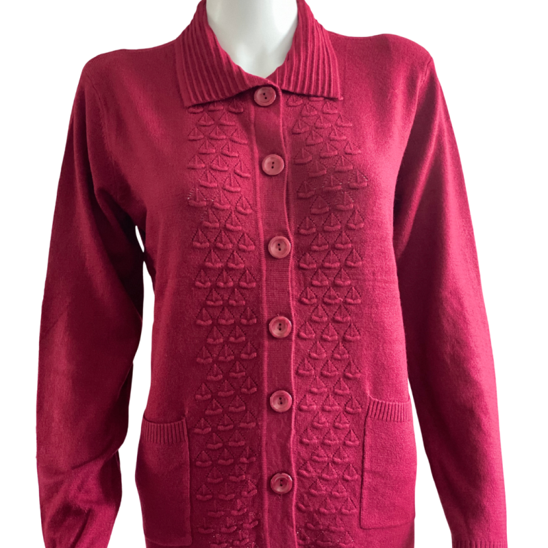 Paris Vest Liesbeth bordeaux rood