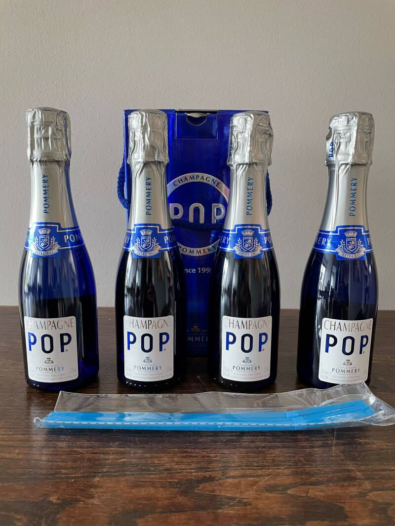 Champagne pop blue 4 x 20cl Pommery