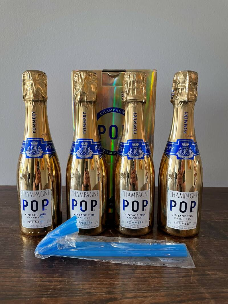 Champagne pop gold 4 x 20cl  Pommery