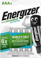 Energizer - Recharge Extreme 4 x AAA 800 MAH