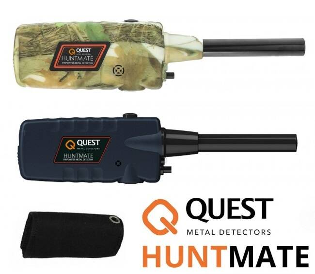 Quest Huntmate pinpointer zwart of camouflage