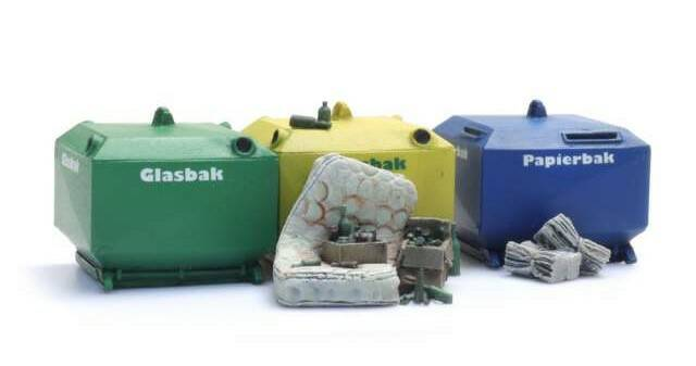 Deco Glass and Paper Recycling Containers