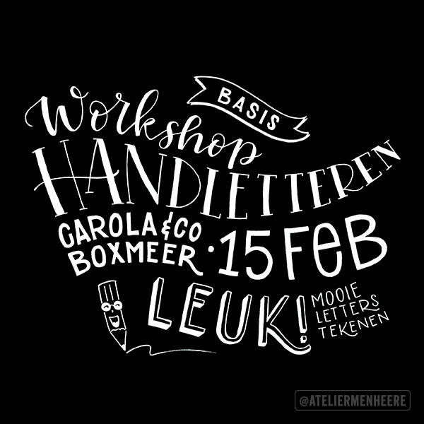Workshop Handletteren (15 feb, Boxmeer)
