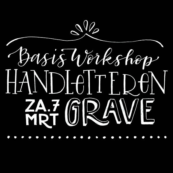 Workshop Handletteren (7 mrt, Grave)