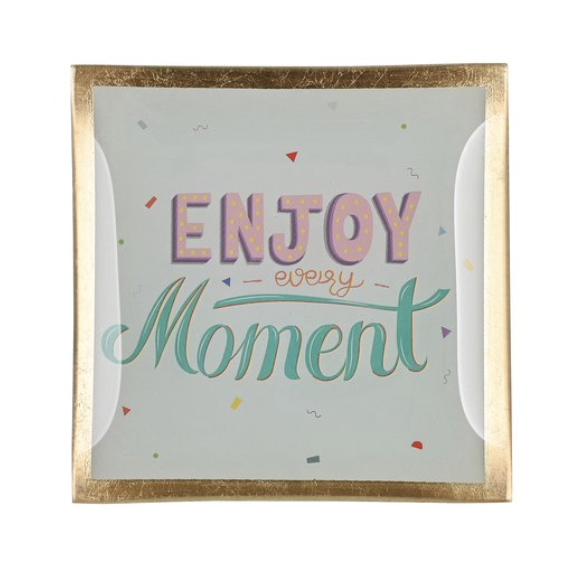 Love plates - Enjoy every moment - Wit/Roos/Licht blauw - Smal - 1043603037