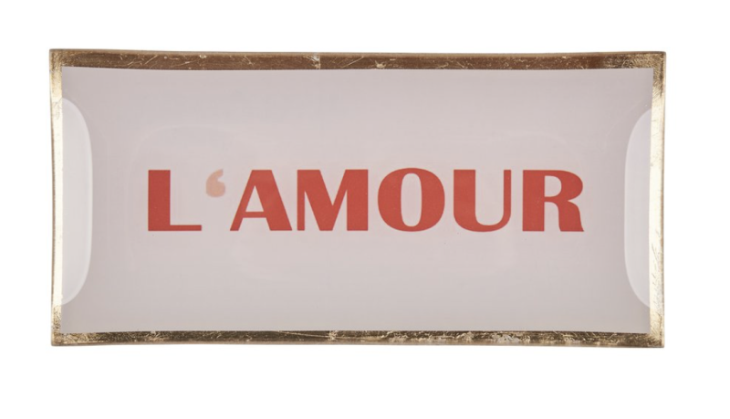 Love plates - L'Amour - Roos/Goud - Glas - Large - 17005012