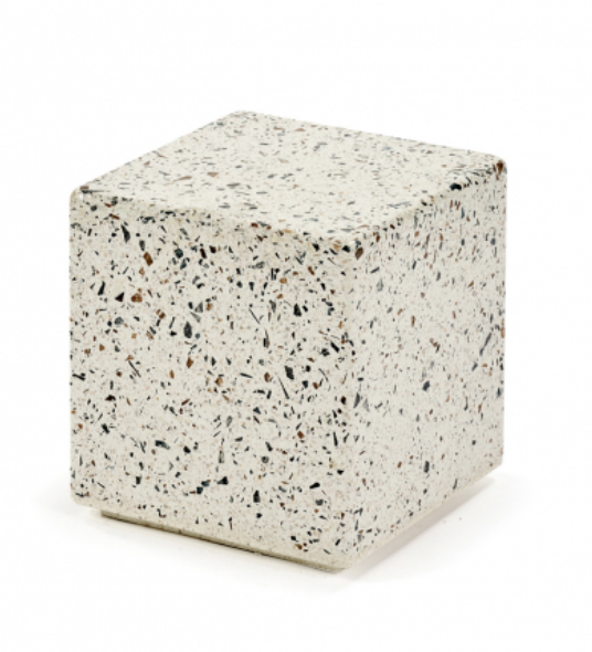 Serax Side table - Terrazzo collectie - H/B/D30 cm - Wit/Beige