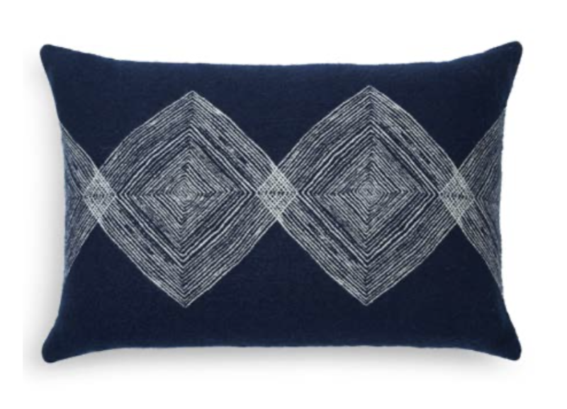 Cushion - Navy Linear Diamonds - Ethnicraft - NEW COLLECTION