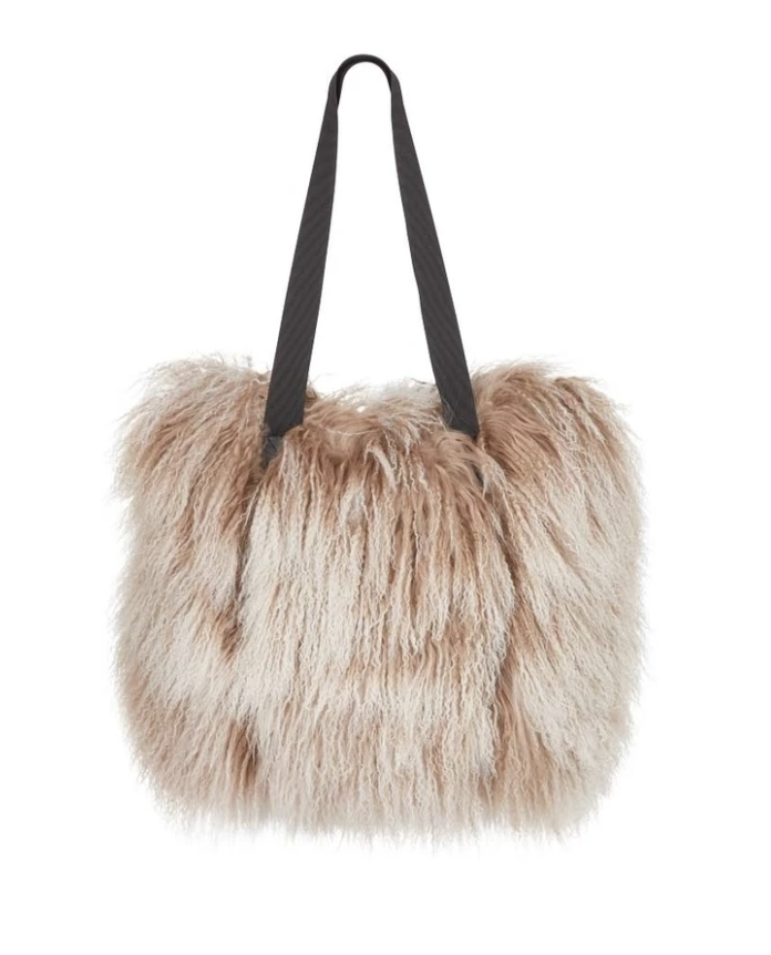 Natures Collection - Hailey Shopper Bag - Taupe/Snow Top - NCF1514