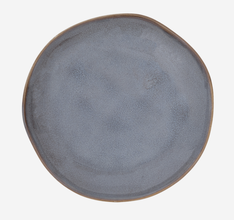 Plate - Grow Reactive Glaze - Ebony - 105736 - Urban Nature Culture