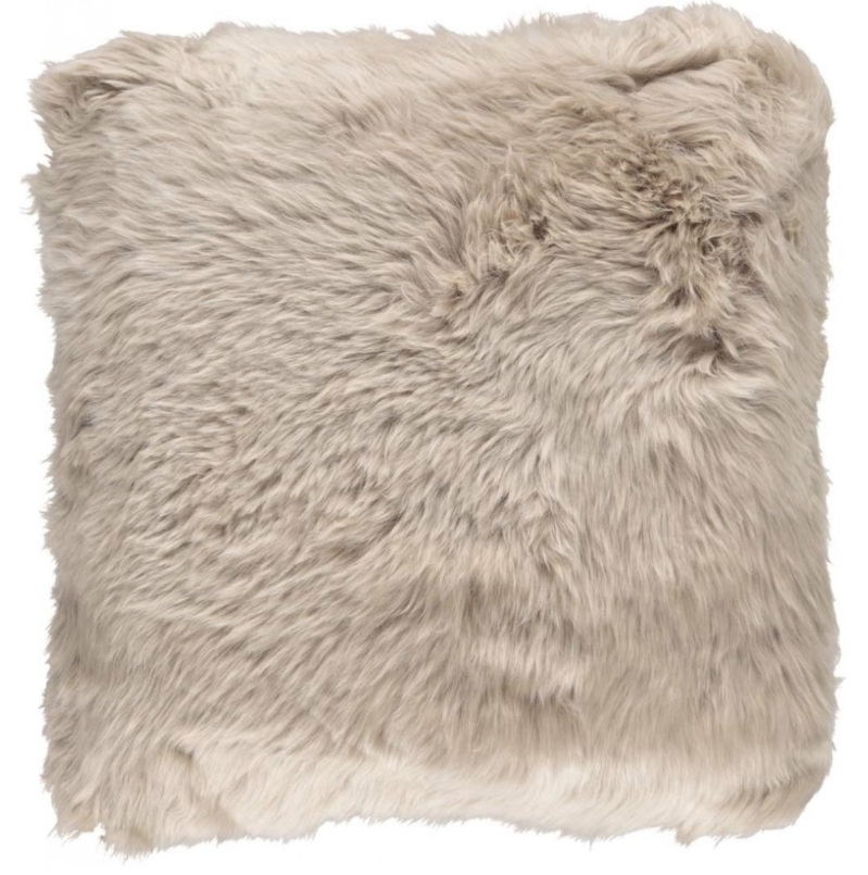 Natures Collection - Cushion - Long-Wool - Warm sand - 50*50 cm - NCL1056