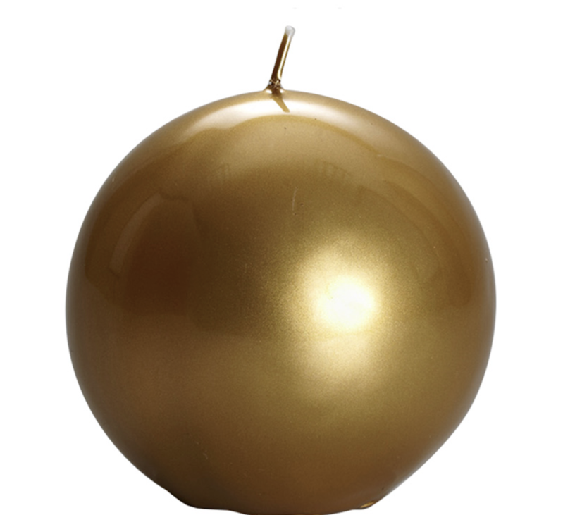 Candle - Graziani - Meloria Ball - 150 sheffield - Gold - MES3S