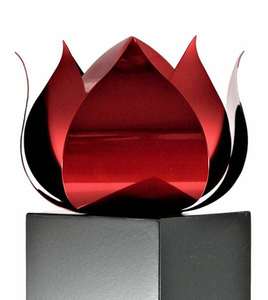 Urn Monument RVS | Ruby Red