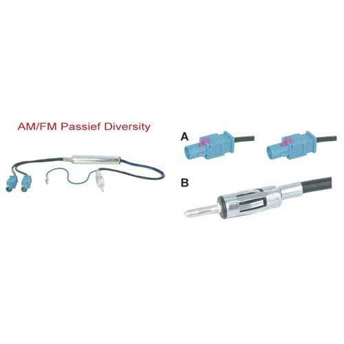 Diversity antenne adapter passief 2x fakra male –> din male