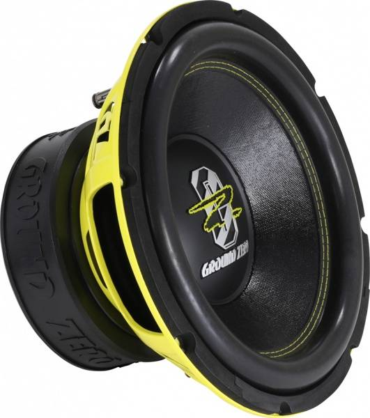 GZ, 12 inch, 2x2-Ohm, 1500 watt max SUBWOOFER RADIO ACTIVE