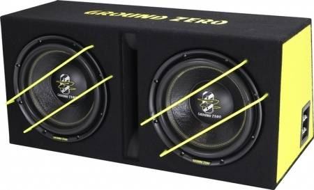GZIB 2.3000XSPL GZ, Bassreflex box, 2x 12 inch, 2000 watt SPL power, 2x 4 Ohm