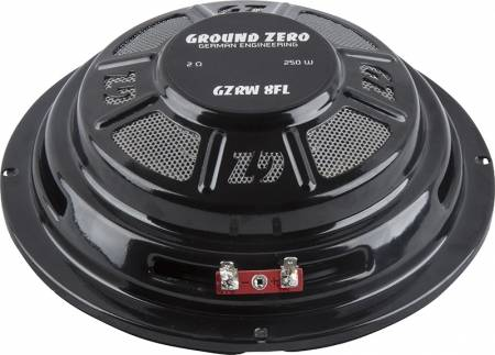 GZ, Flat subwoofer, 8 inch, 2 Ohm, 150 watt RMS SUBWOOFER RADIO ACTIVE