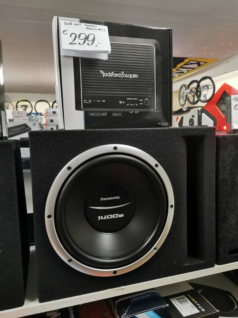 Panasonic / Rockford set 500 watt RMS