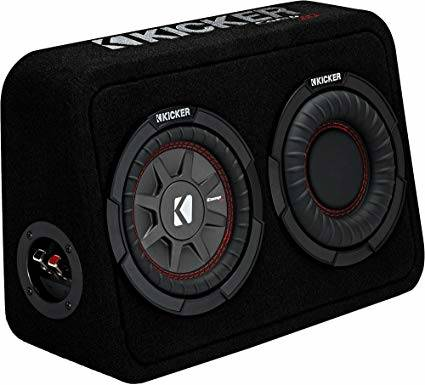 """Kicker TCWRT674 CompRT 6.75"""" Subwoofer in Thin Profile Enclosure 4ohm 150W"""