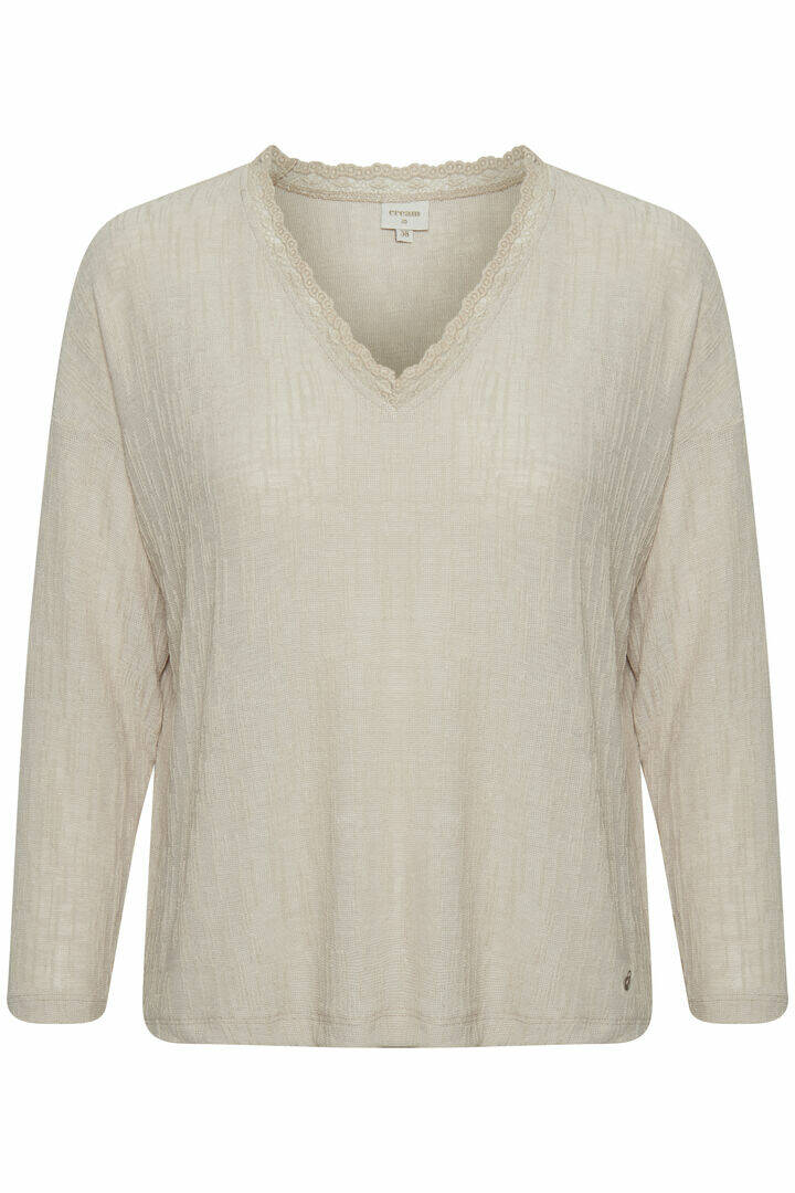 Cream Nadja long sleeve sand melange