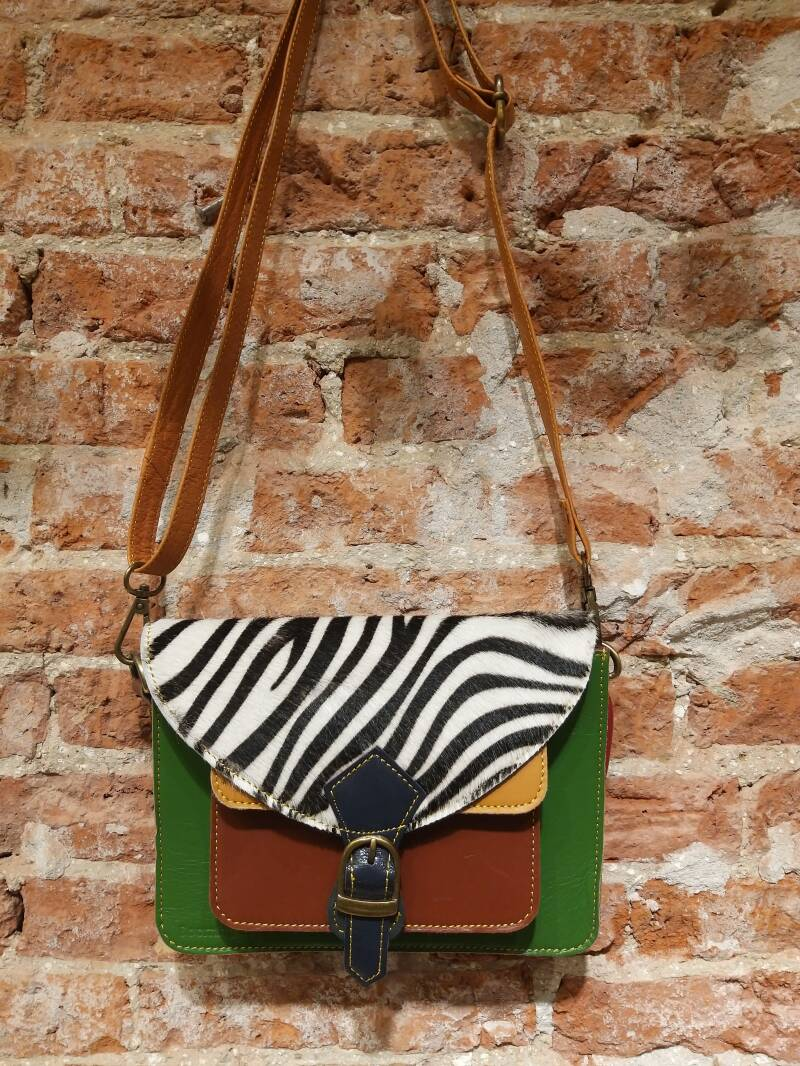 Booming Bags paars/rood/panter