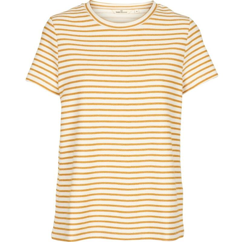 Basic Apparel VenDela Tee - Organic Gots Inca gold/off white