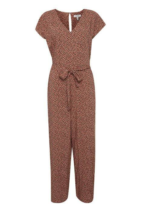 b.young MMjoella Jumpsuit etruscan red mix