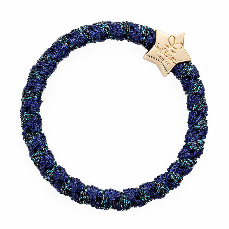 By Eloise bangle band navy blauw