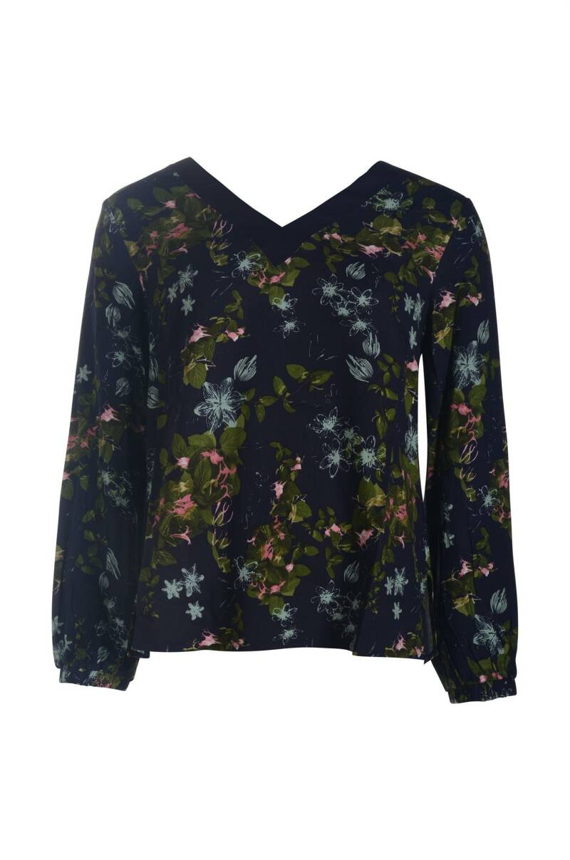 Vila Joy Chickpeas blouse blauw