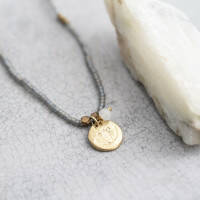 A Beautiful Story Truly Moonstone Lotus Gold ketting