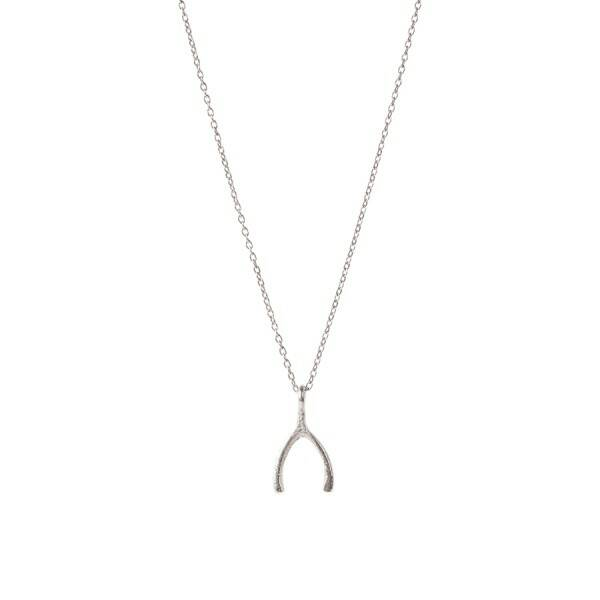 A Beautiful Story Delicate Wishbone Sterling zilver ketting