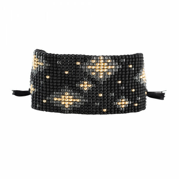 A Beautiful Story Starlight Zwarte Onyx goud armband