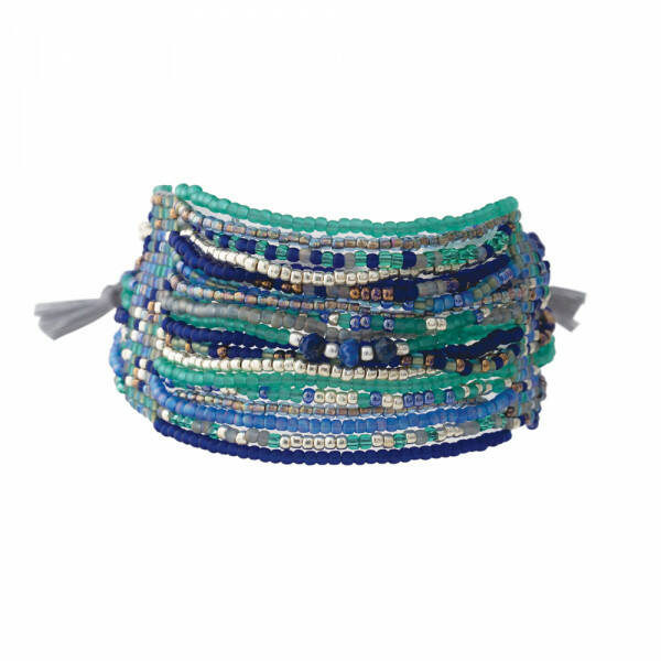 A Beautiful Story Brilliant Lapi Lazuli zilver armband
