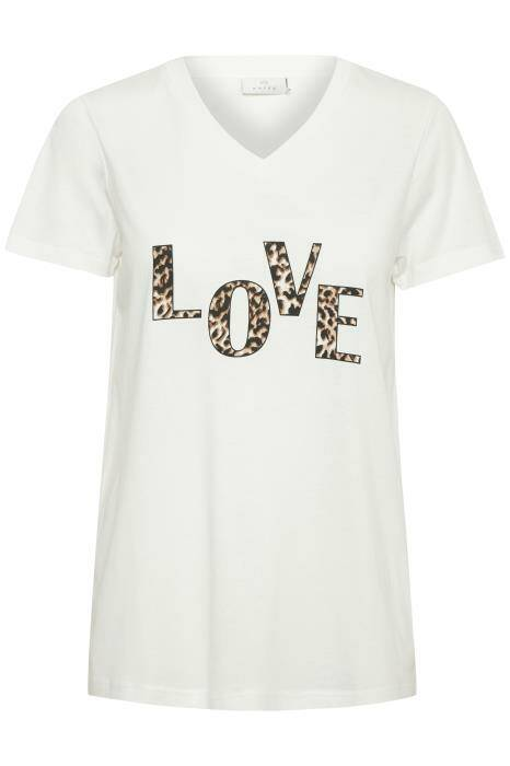 Kaffe Love t-shirt wit