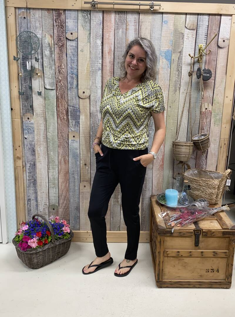 Top Urielle Yellow Multi top