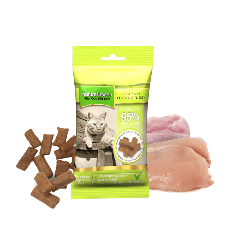 Natures Menu Real Meaty Kip en Kalkoen 60 gram