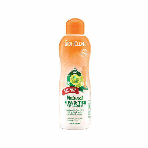 TropiClean Natural Flea & Tick Shampoo Maximum Strength 355ml