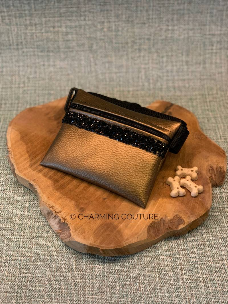 Treat Bag - Copper with Black Strass Stones