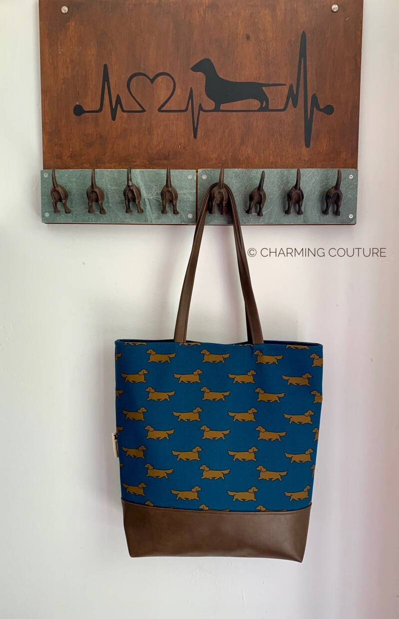 Tote Bag - Long haired dachshunds
