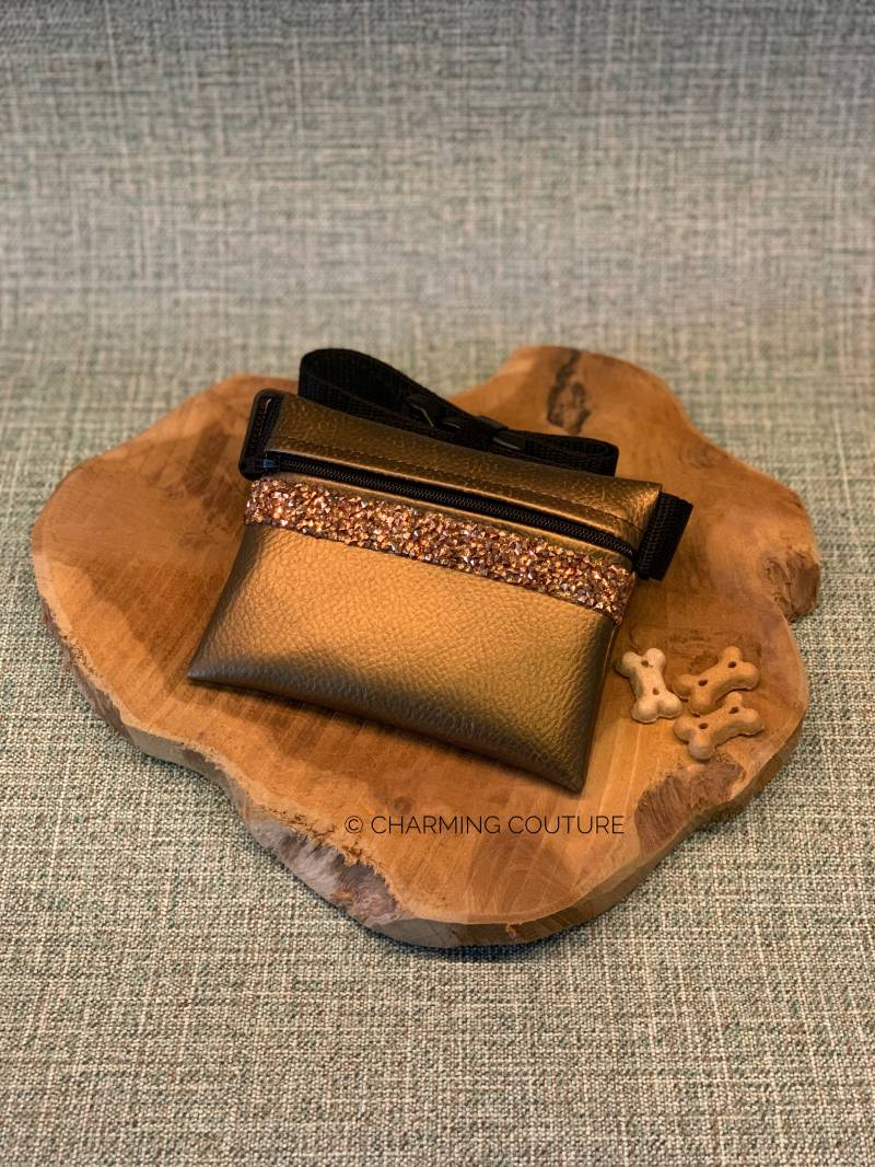 Treat Bag - Copper with Rose Gold Strass Stones