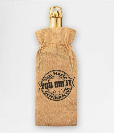 You did it - bottle gift bag