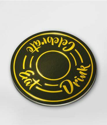 Eat drink celebrate - glossy coasters