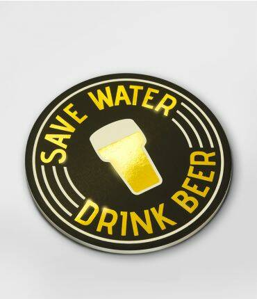 Save water - glossy coasters