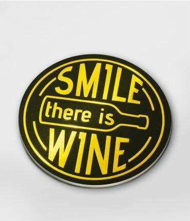 Smile, there's wine - glossy coasters