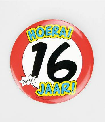 16 Jaar - button XL