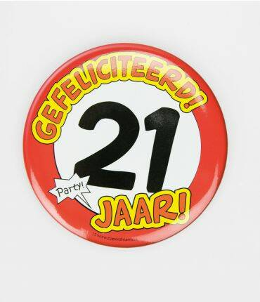 21 Jaar - button XL