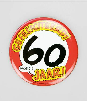 60 Jaar - button XL