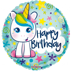 Happy birthday cute unicorn - folieballon