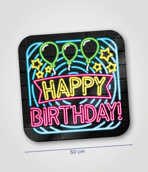 Happy birthday -  huldeschild neon